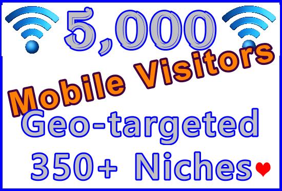 Drive 5,000 Geo + Niche Targeted Genuine Human Mobile Visitors