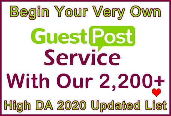 2,200 High DA/PA/CF Updated 2020 Free Guest Posts Lists