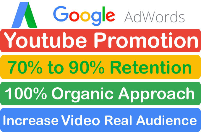 HQ Audience YouTube Video Promotion and Marketing Via Google Adwords
