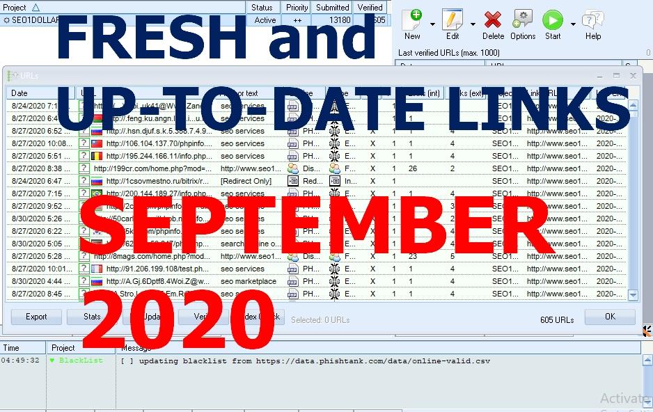 Get 1 MILLION+ FRESH GS SER VERIFIED Sites List with 3.5 Million Domain + 14 Million URLs, LOW OBL