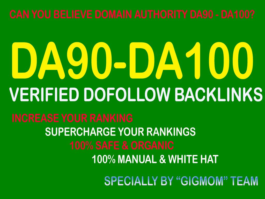 Verified 20 DA90-100 High PR Dofollow Backlinks to Rank Higher