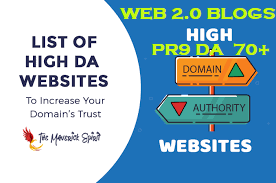 20 WEB 2.0 Blogs Safe SEO High DA 70+ PR9 Backlnks Latest 2020 UPDATE