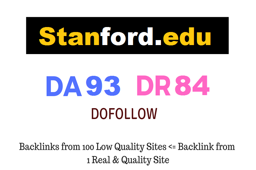 Guest Post on Stanford University - Stanford. edu DA93 PA84