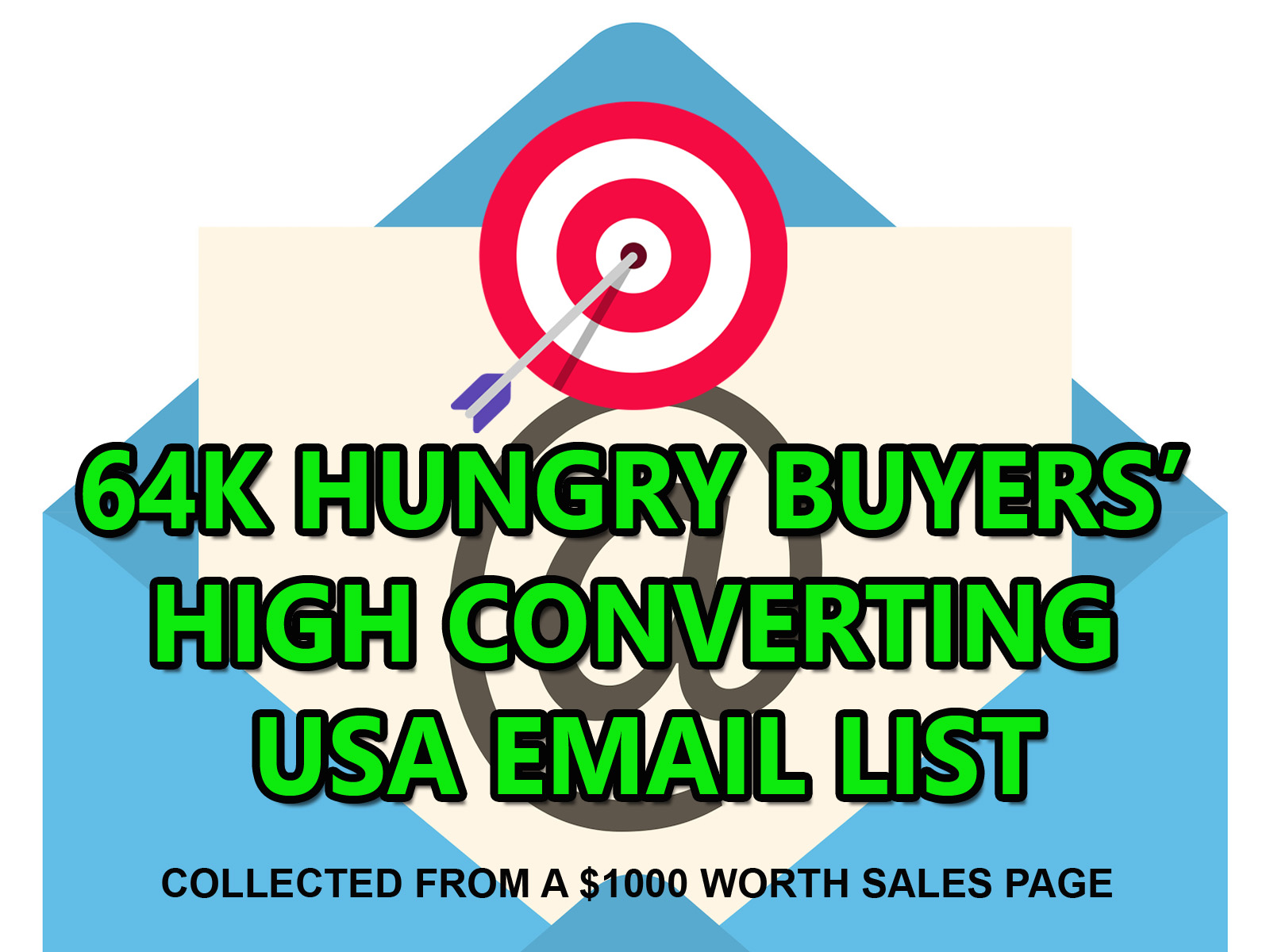 64k Verified USA Email List of High Quality Buyers