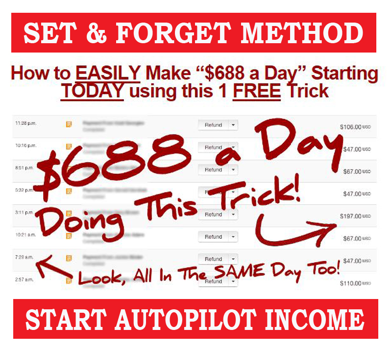 Set And Forget Autopilot Passive Income Ideas 688 USD Daily