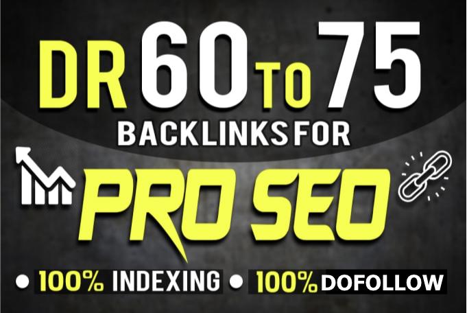 Create 20 UnBeatable DR 60-70 DoFollow High Authority Backlinks