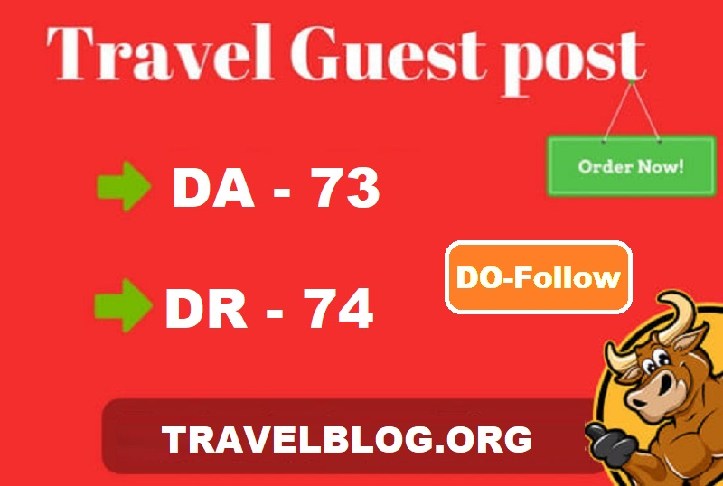Publish guest post on quality travel blog DA-73