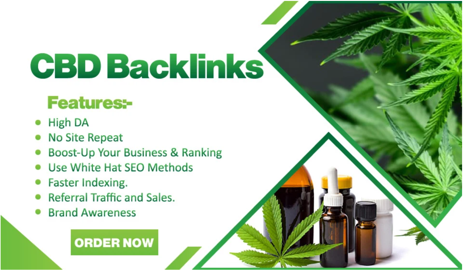 I will build 10 cbd links,  backlinks and cbd guest post On High DA Sites