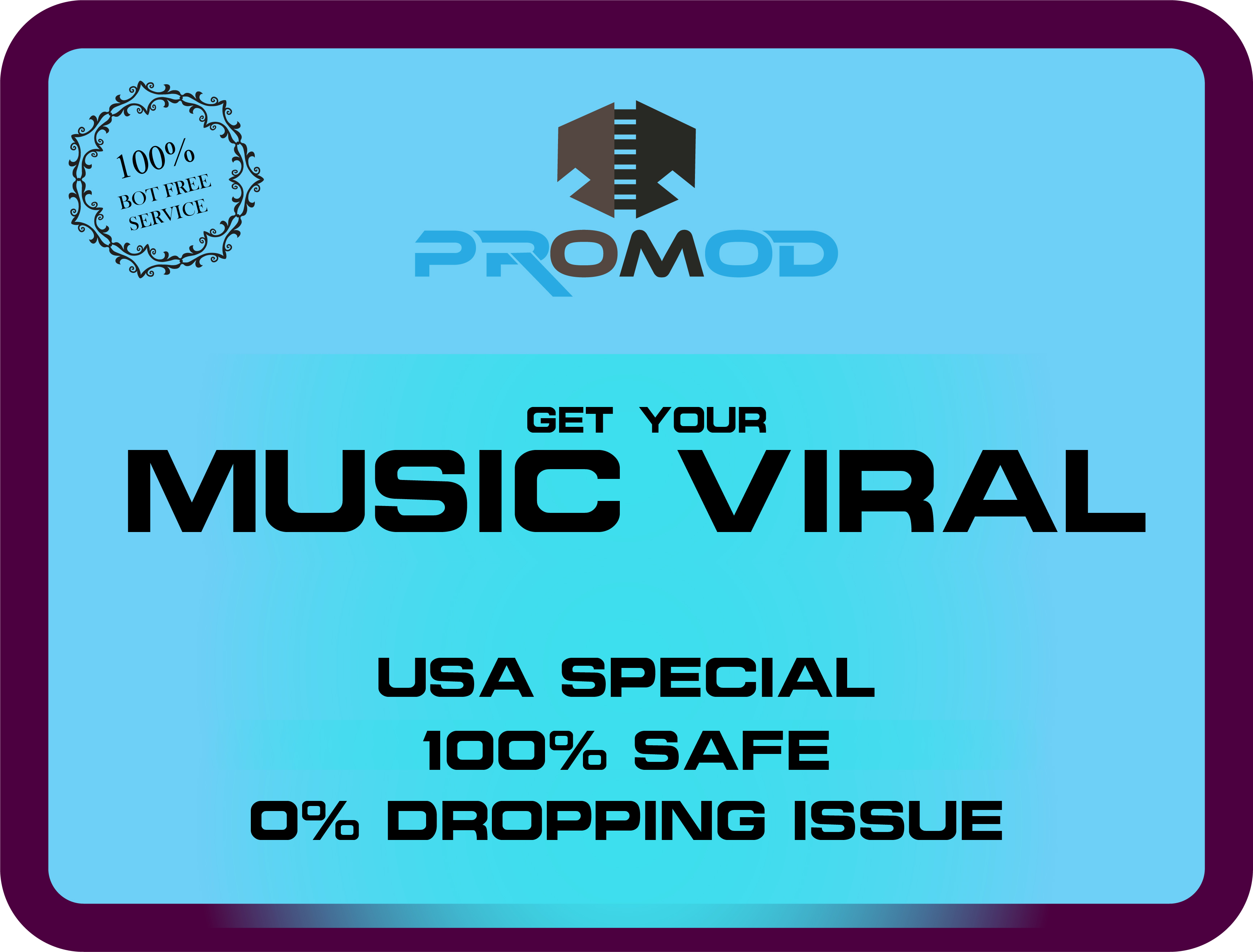 USA special. Viral and Safe Music Promotion