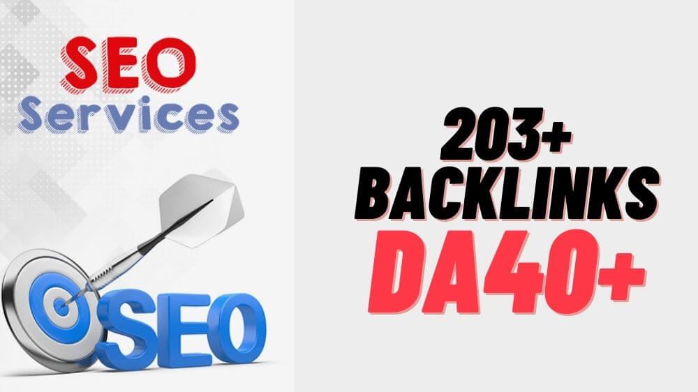 203 Links - All Backlinks DA40+ Manual PR6 to PR9 Moz verified domain to rank high within days