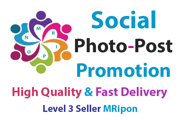 Add Instant High Quality Real Photo Post Video Promotion
