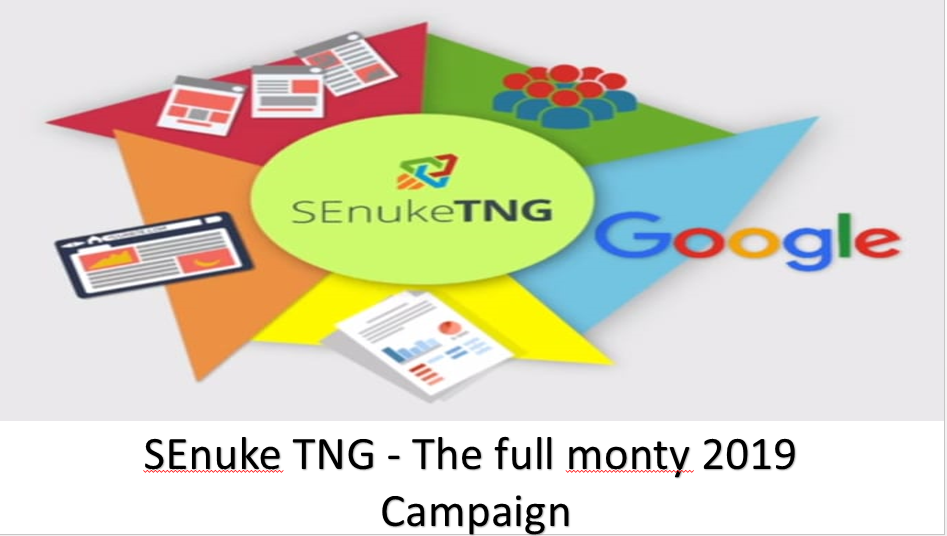 SEO PAckage-SEnuke TNG - The full monty 2019