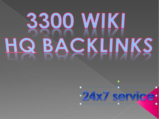 3300 wiki backlinks include mix profile and articles High PR
