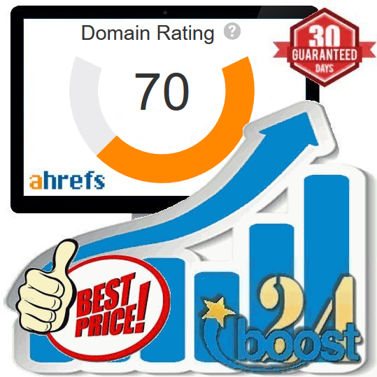 Increase your Domain Rating to DR70+ Ahrefs