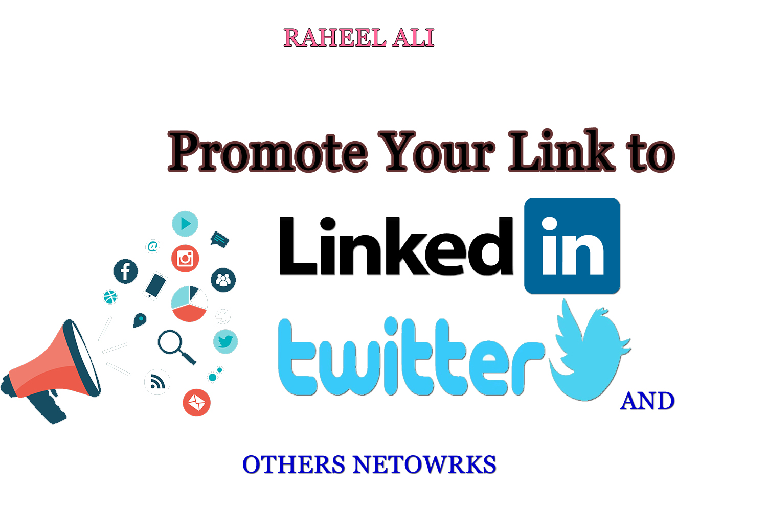 promote anything to 15,000,000 Linkedin Twitter tumblr and other networks
