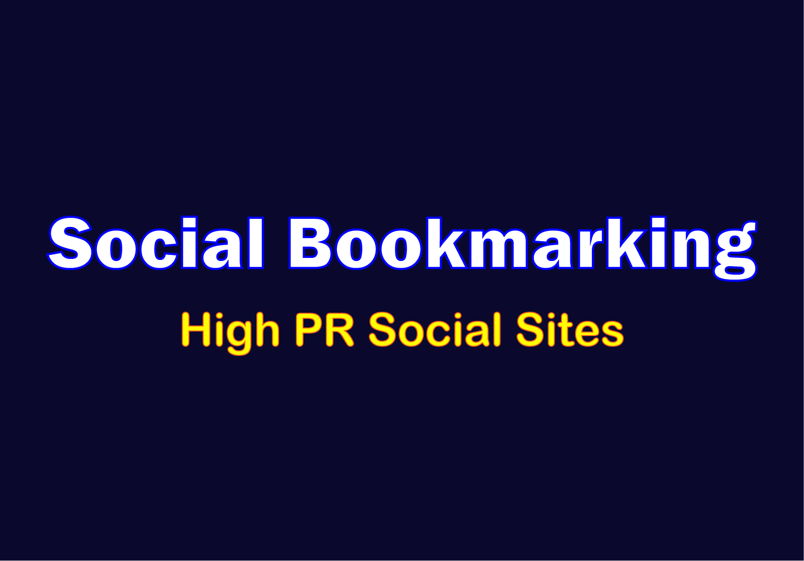 I will Bookmark Your Site into Social Bookmarking Sites