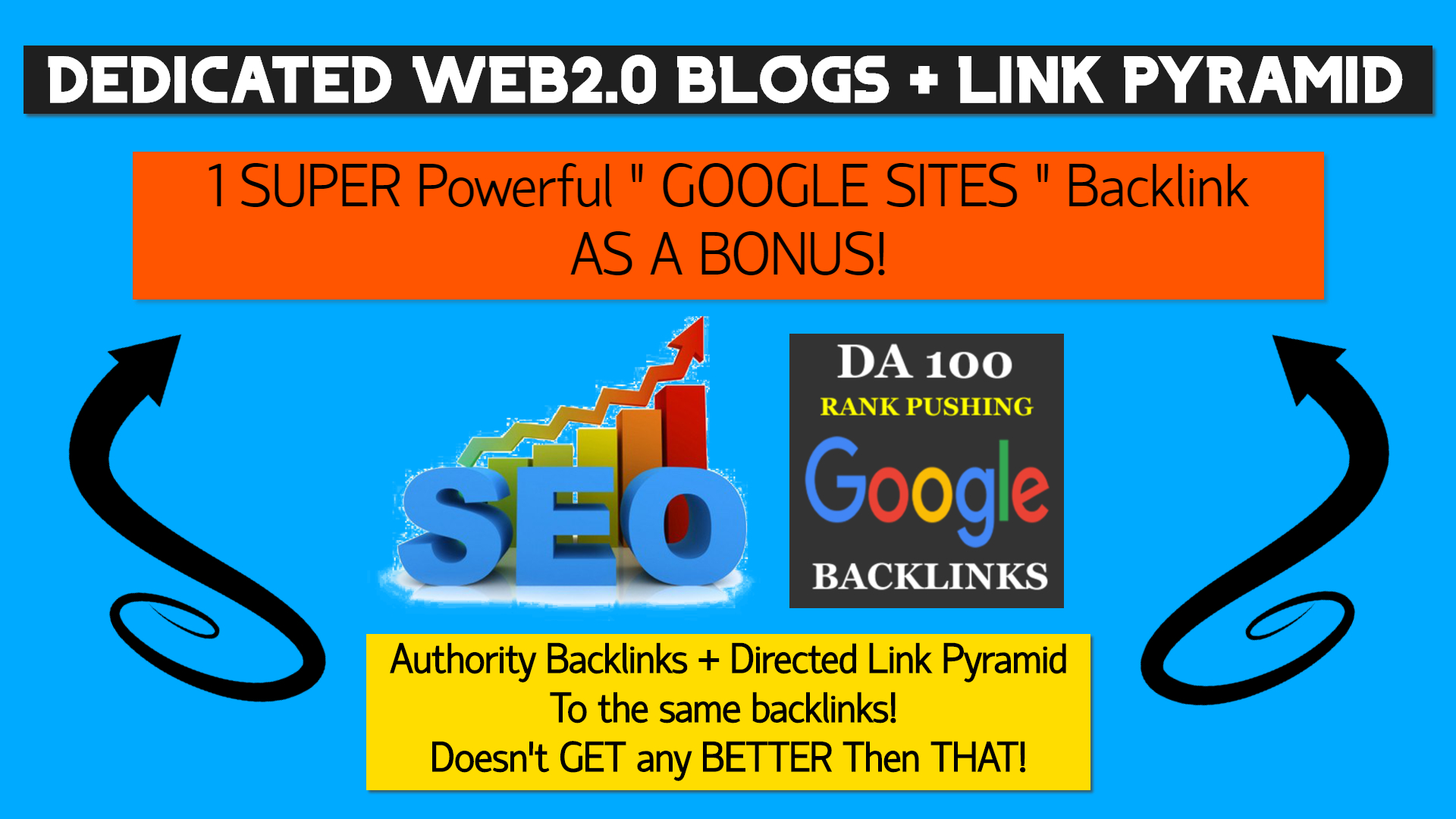 Land Up To Top 5 On Google V3 - WEB2.0 + LINK PYRAMID
