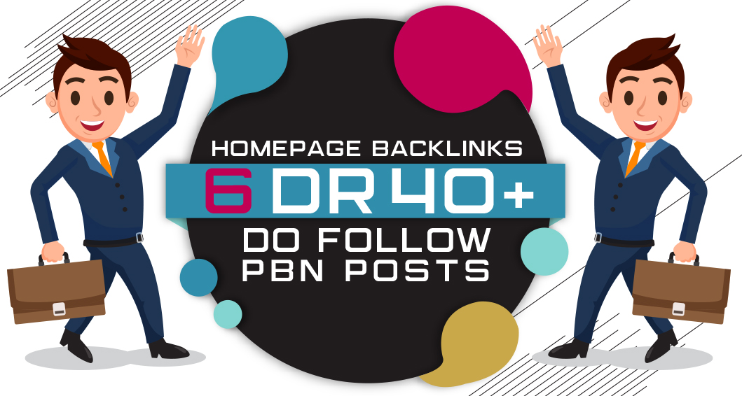 6 Manual HIGH DR 40 Plus Homepage PBN Backlinks