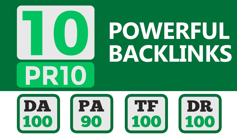 10 Powerful PR10 High Quality SEO BackIinks on DA100 websites