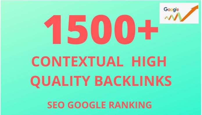 I will create 1500 + Google Friendly SEO Backlinks in 24 hrs