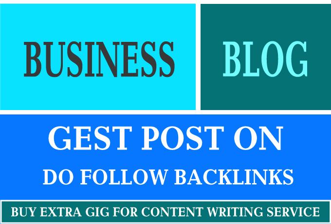I'm providing a High-Quality Back-link on My High DA Business Blog