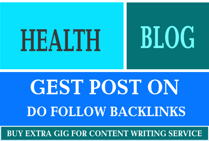 I will guest post on high quality health blog
