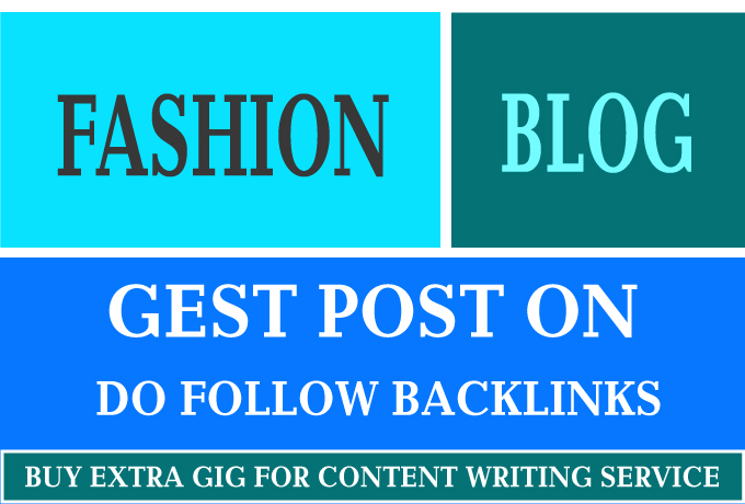 I Will Guest Post On Fashion Blog
