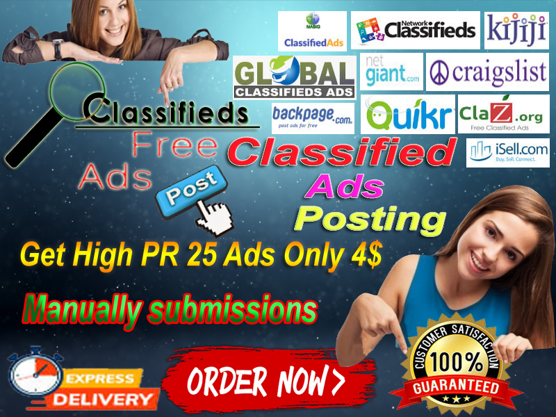I will advertise your business or product And any other subject online 25 high PR classified ad site