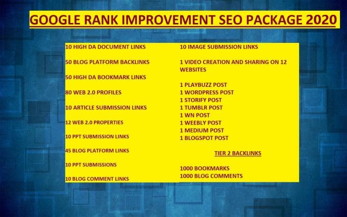 SEO Backlinks for 2020 ( Google Rank Improvement)
