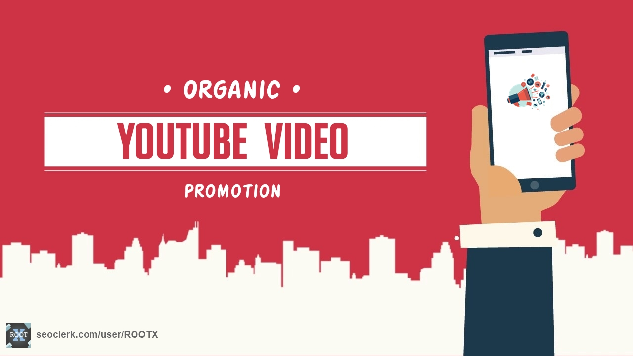 Organic youtube video promotion through social media
