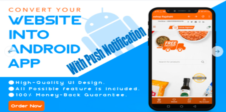 Convert Your Website To Android App With Push Notification