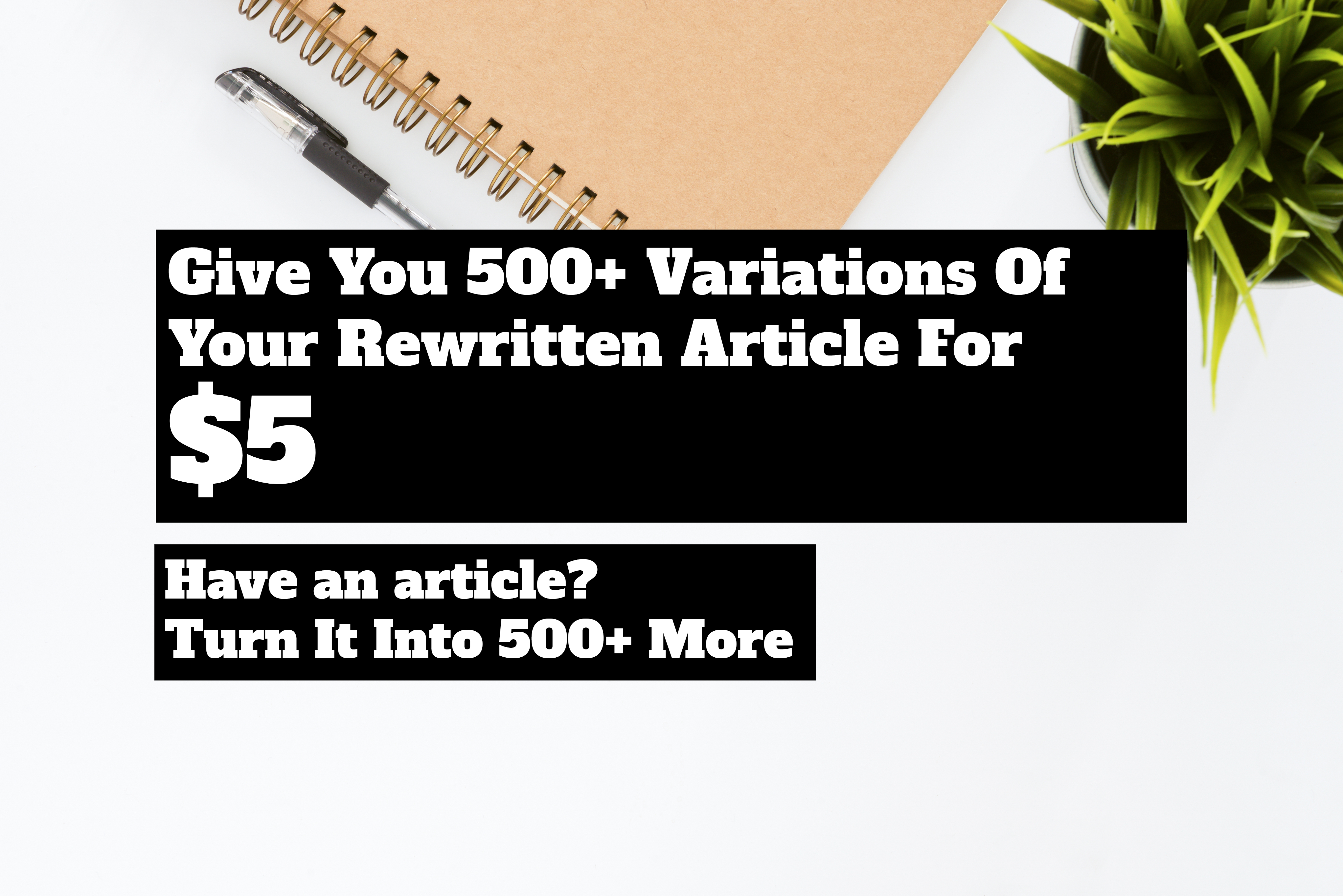 Turn Your Article Into 500+ Variations Of Unique Articles
