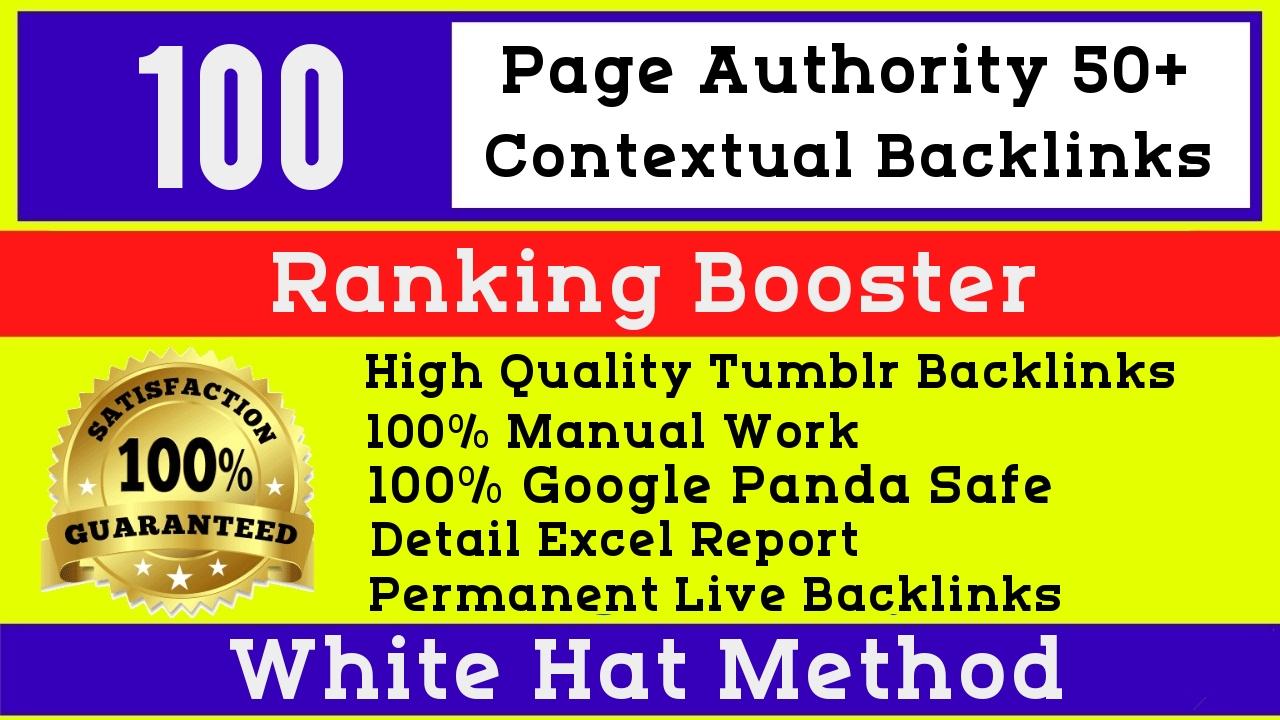 100 High Quality PA50-77 Permanent Tumblr PBN blog post Links