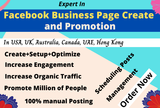 Facebook Business Page Create and Promote to 5, 00,000 people Permanently
