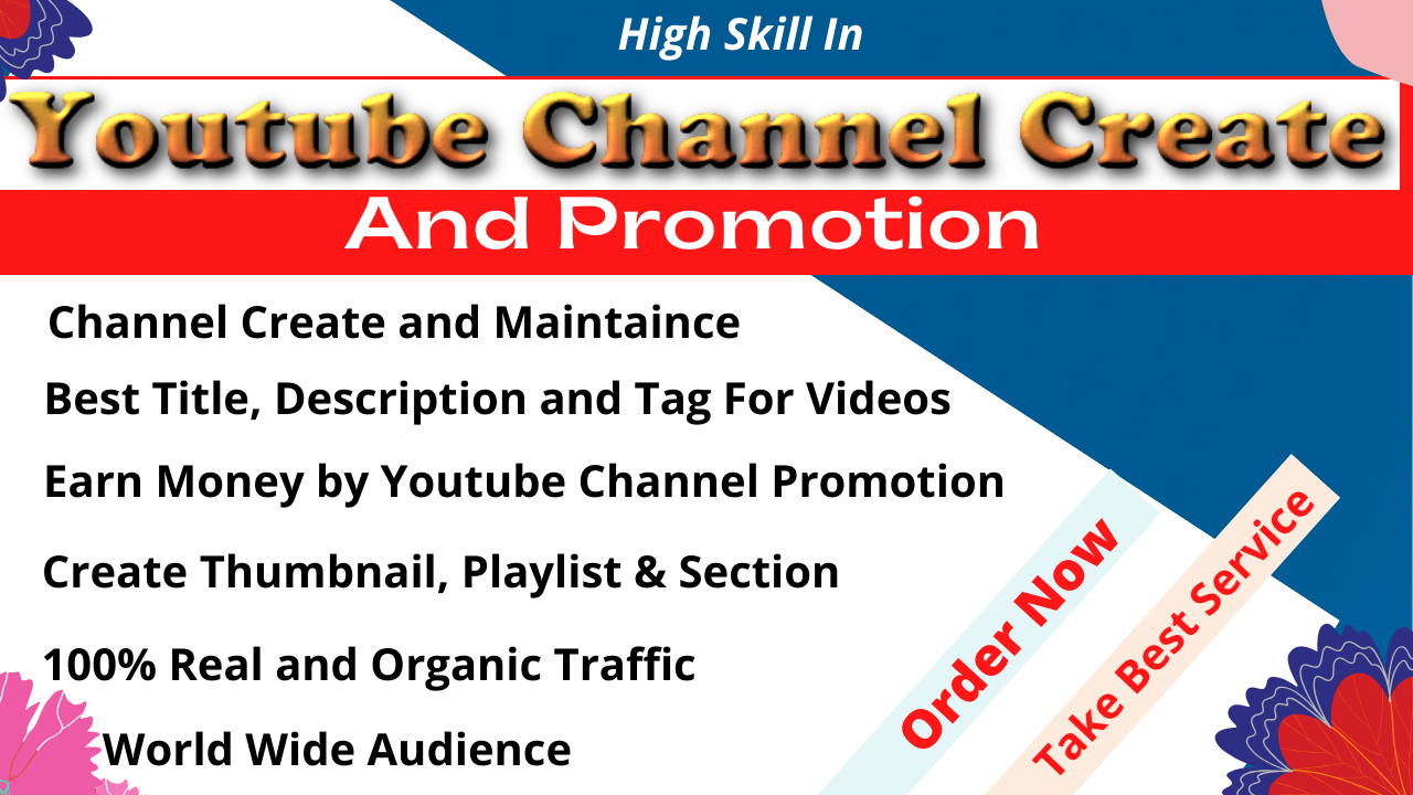 I will Create Youtube Account,  Setting,  Art,  Logo and Banner