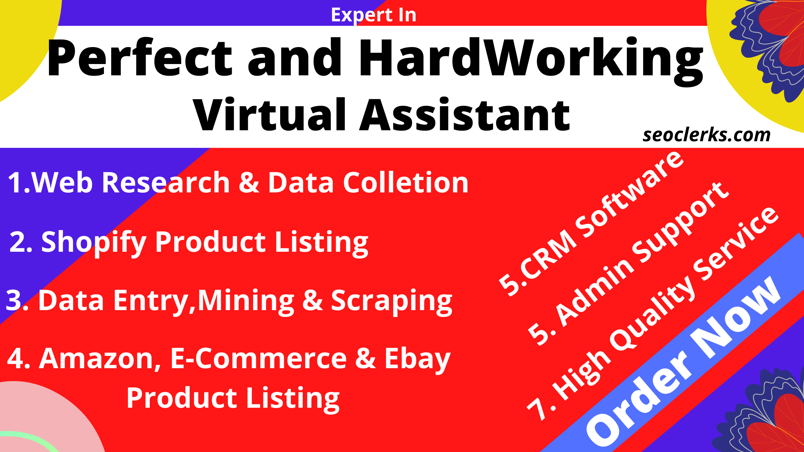I will be Perfect Vitual Assistant For Your Business upto 5 hours