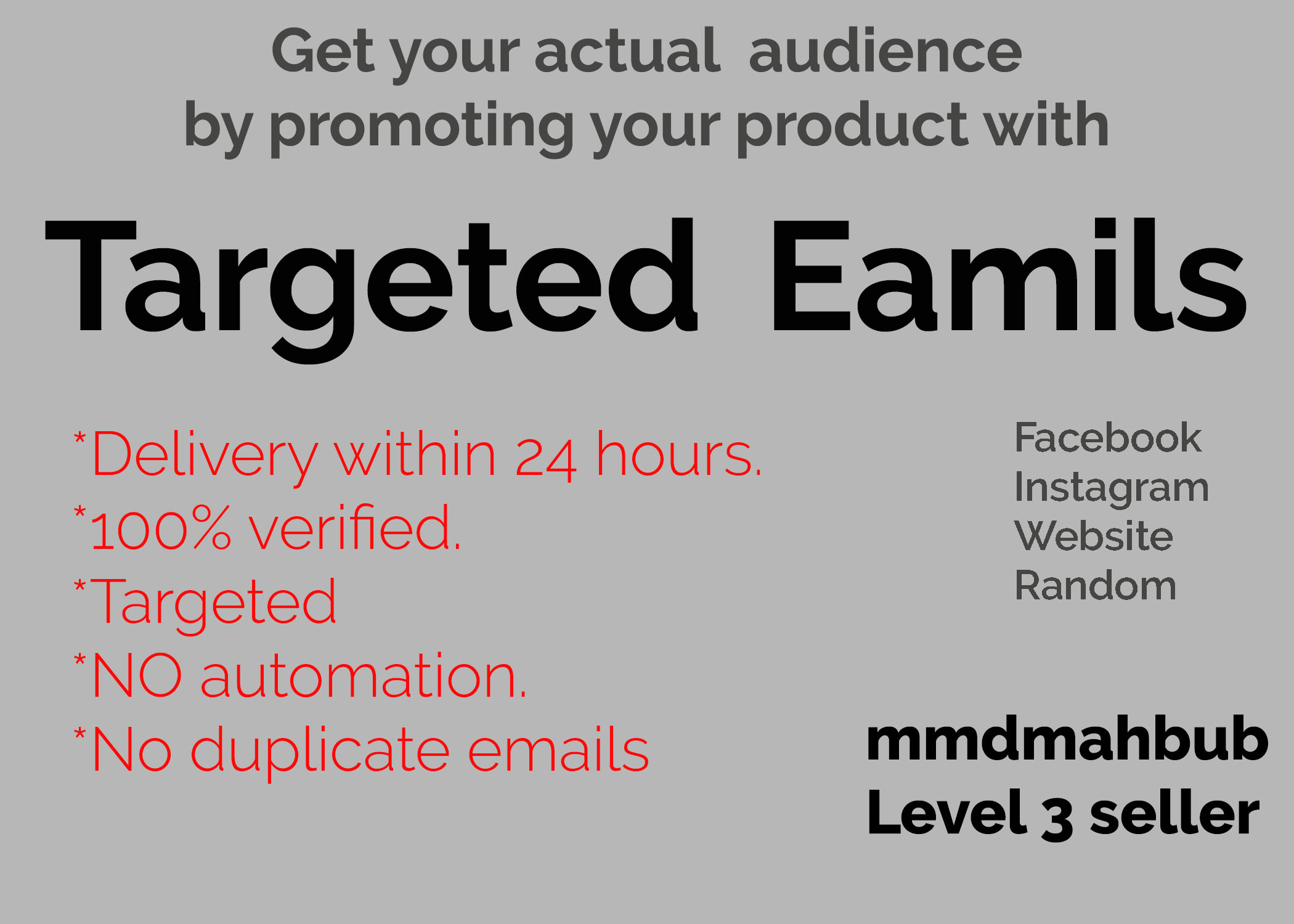 Get 5,000 targeted email leads