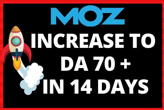 Whitehat - Skyrocket DA 70+ - Moz Domain Authority Boost