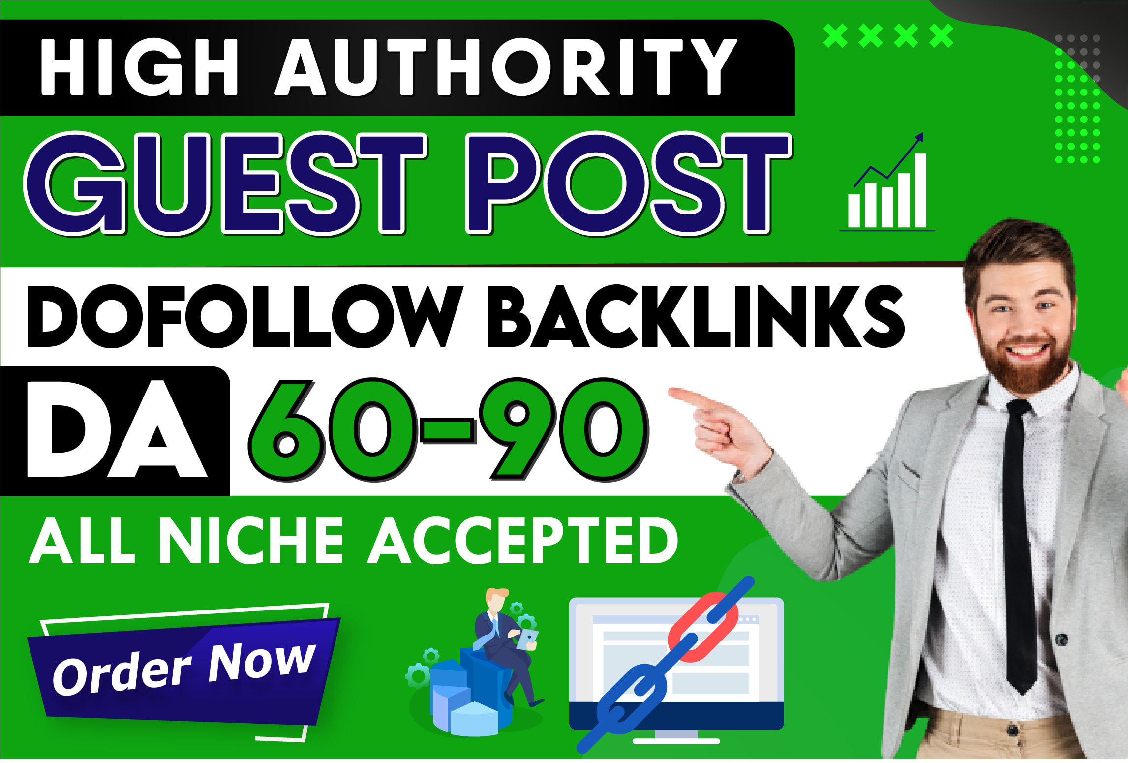 Create 20 high da 60 to 90 guest post on authority blogs guest post