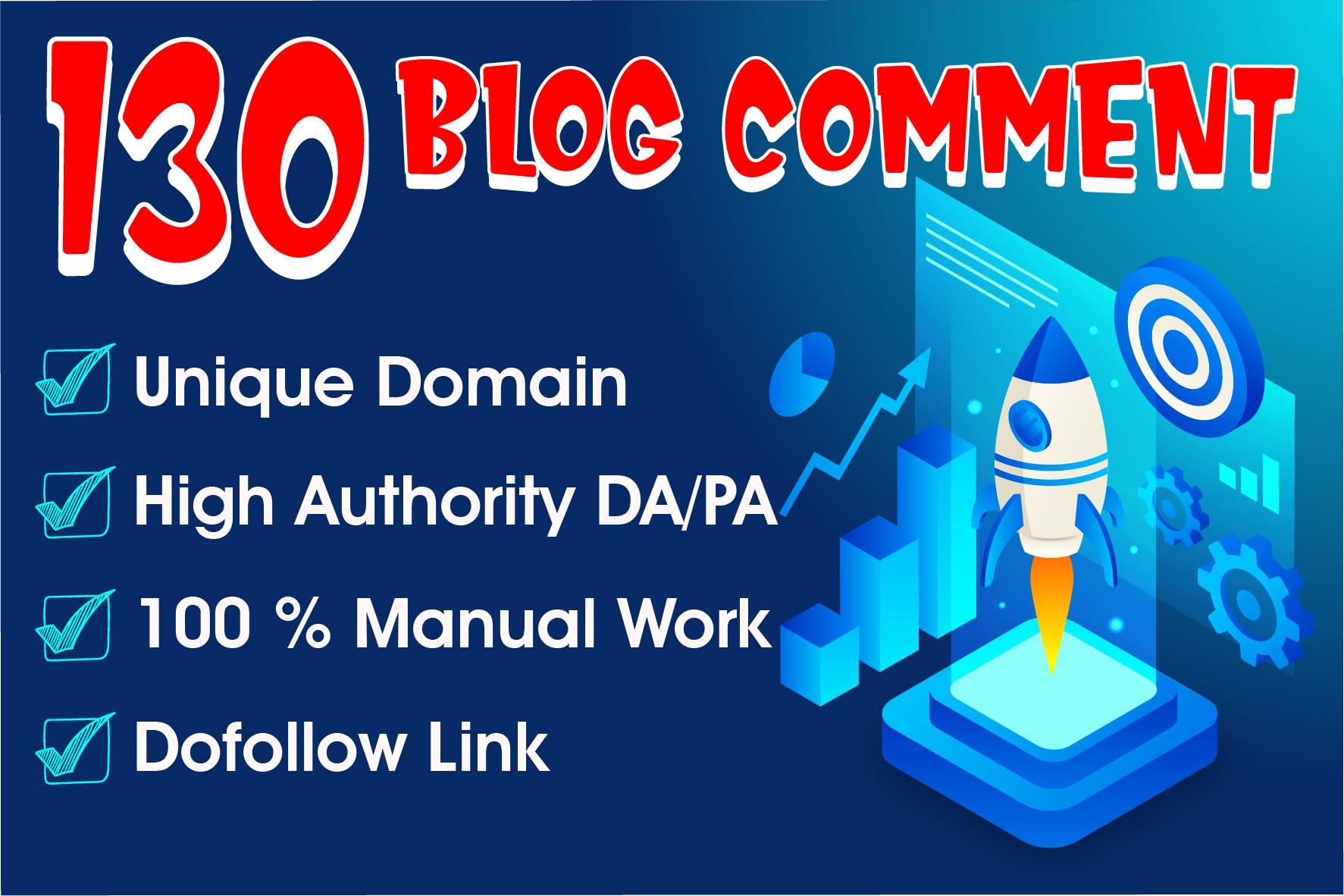 Do 130 blog comment high da 40plus