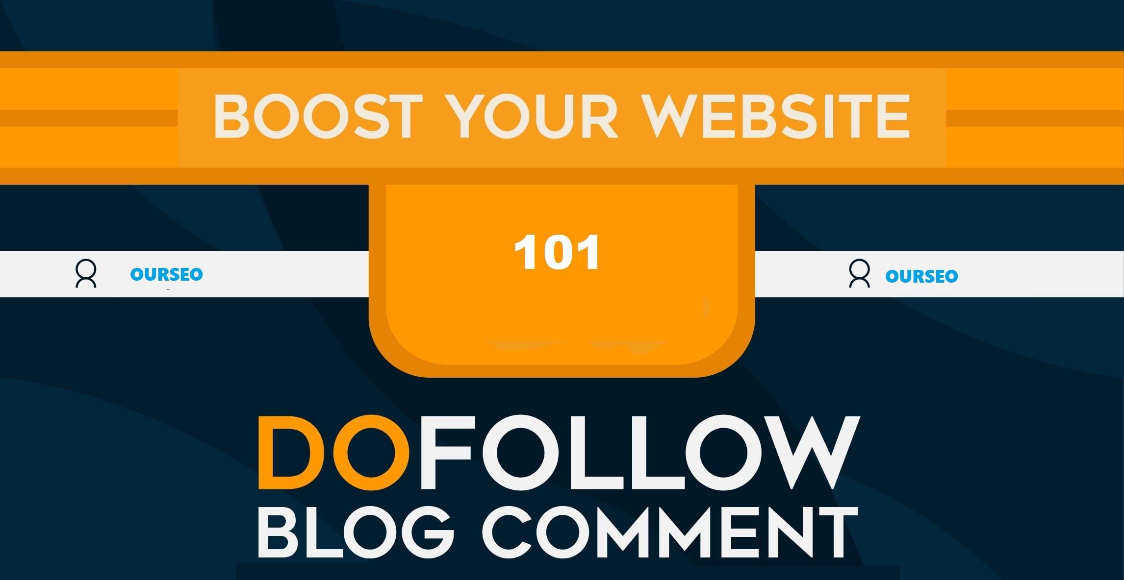 101 Dofollow BLOG COMMENTS Backlinks