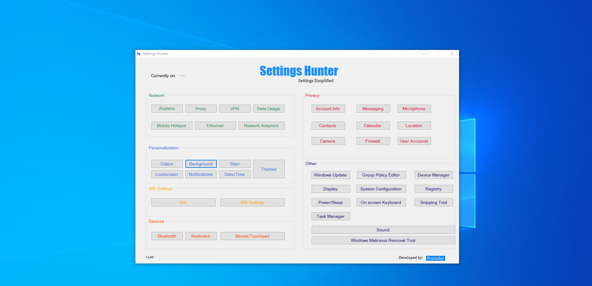 Settings Hunter - Windows 10 Settings Simplified
