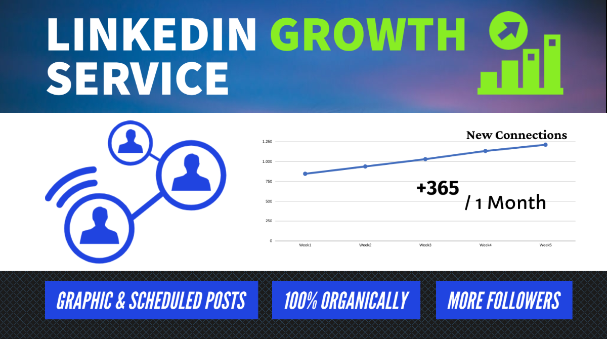 Linkedin Growth Service - Organic Promotion Marketing