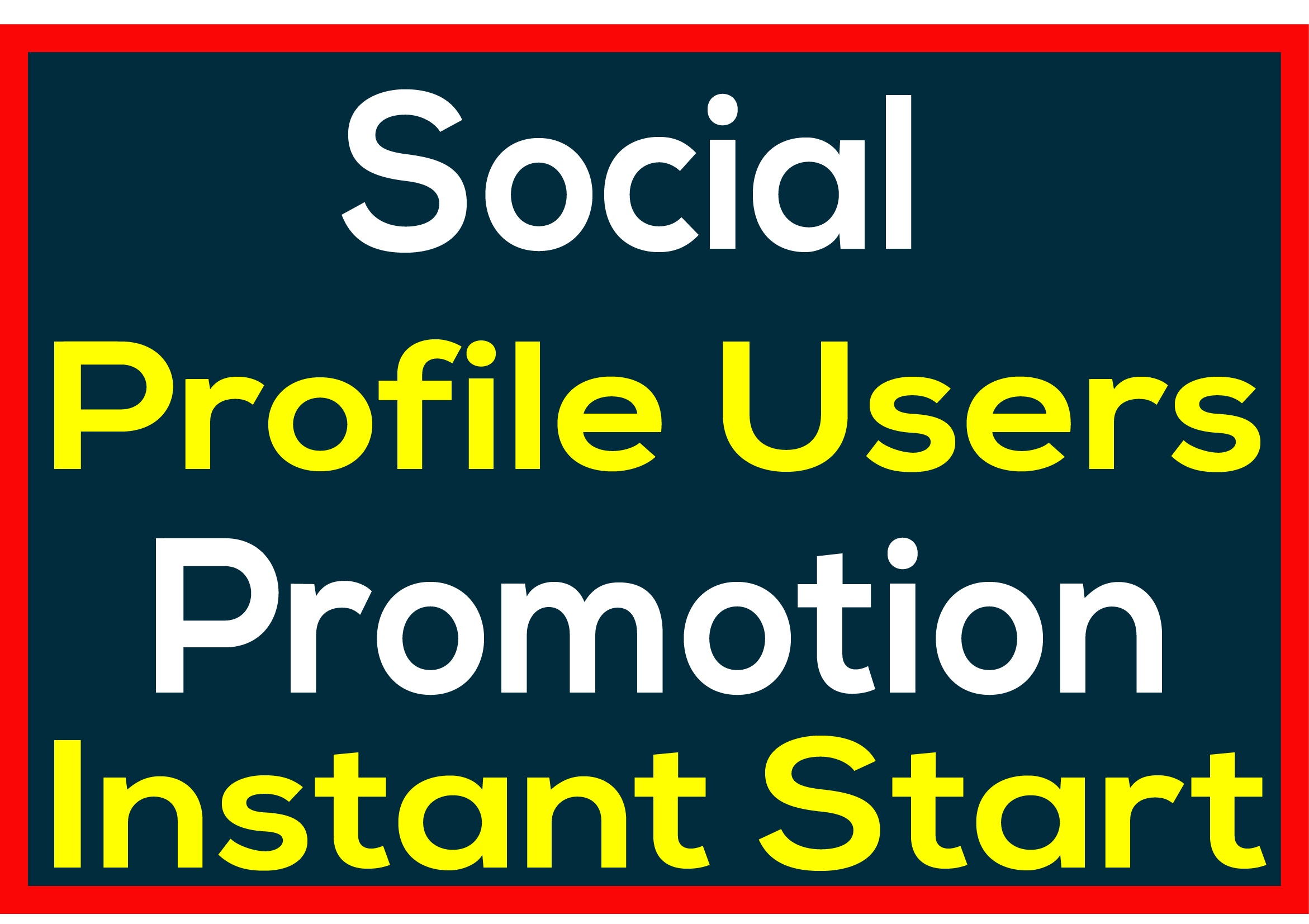 Social Media PROFILE REAL USERS PROMOTION High Quality