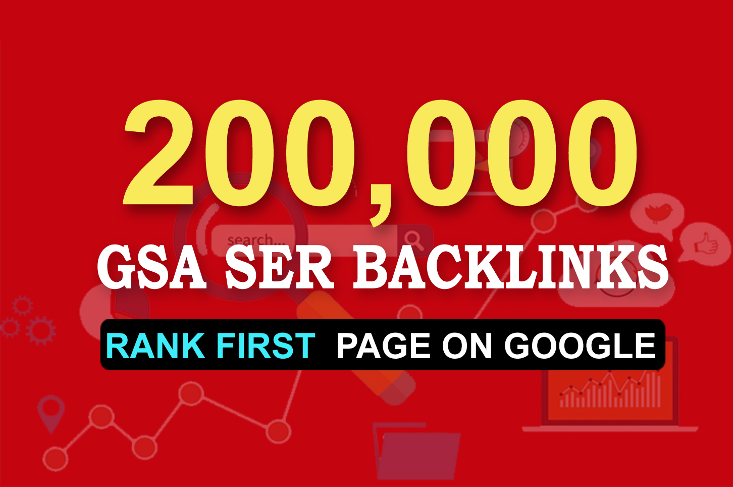 200,000 GSA Backlinks Guaranteed Website Ranking In Google