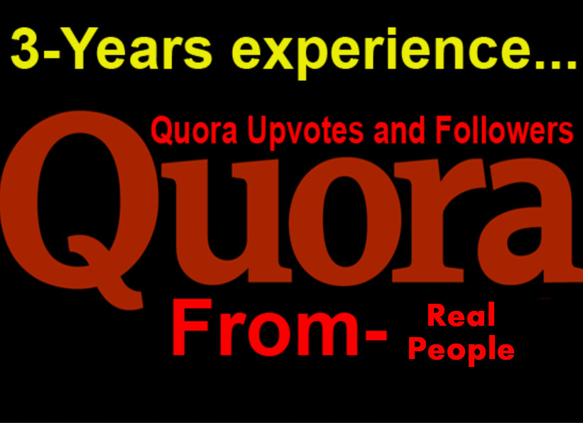 I will give you natural 45 Quora Upvotes from USA