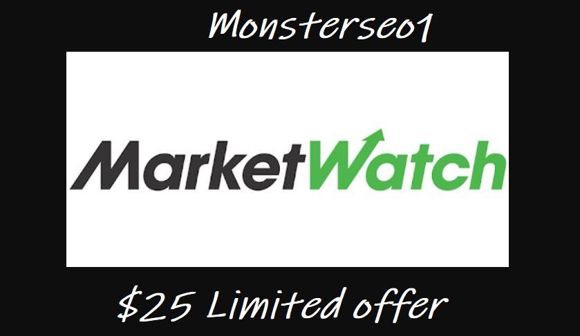 Limited Offer- Publish Your Post on Marketwatch Premium Website