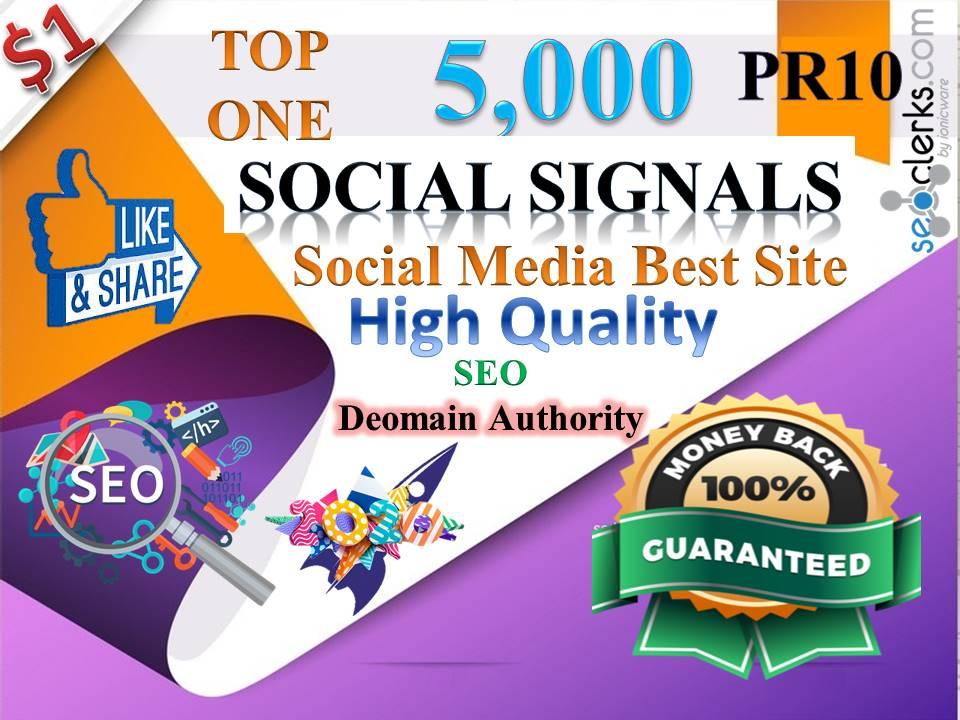 TOP No1 Social Media Best Site 5000+ PR10 DA95 PA100 share Real SEO Social Signals