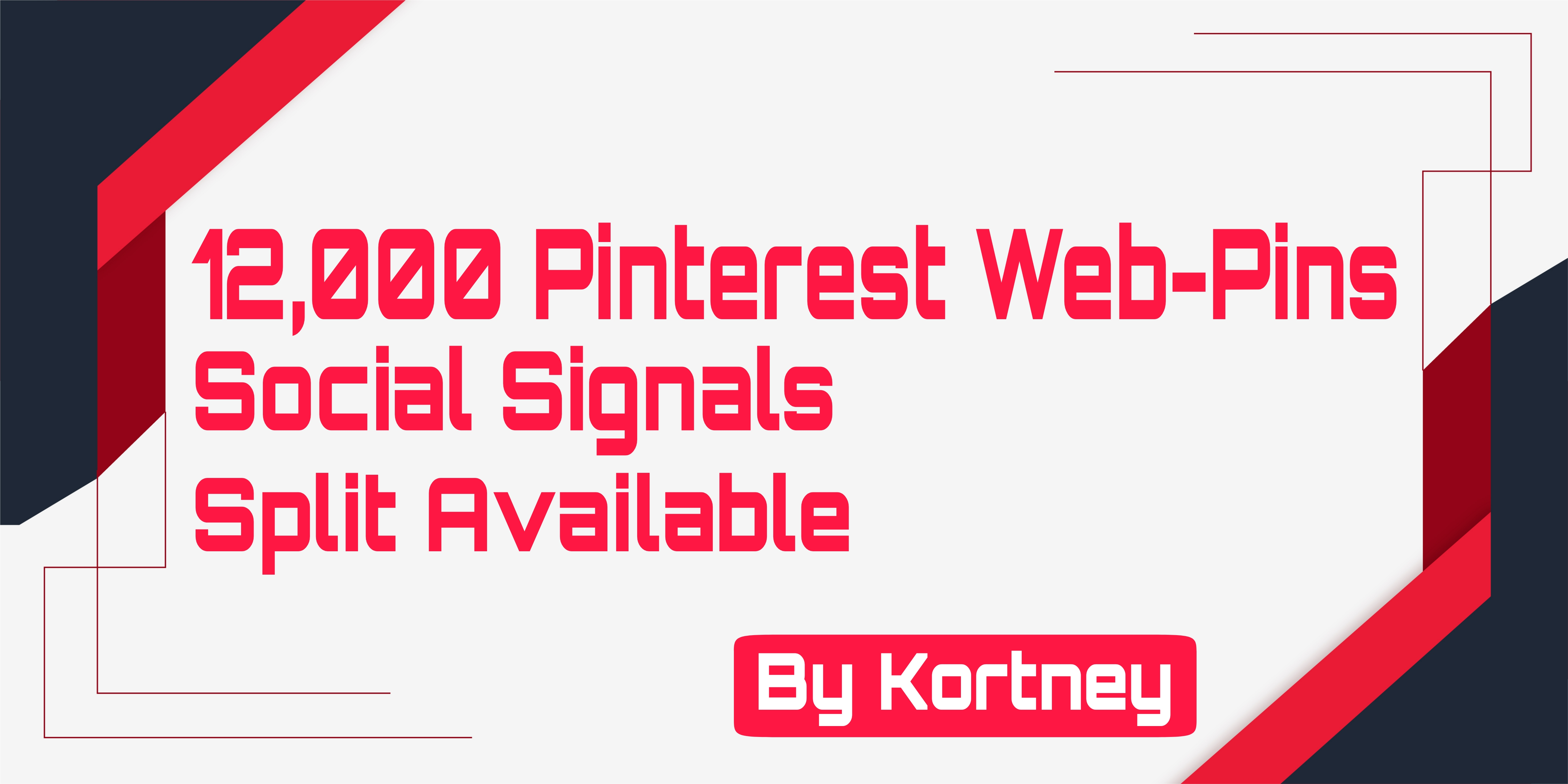12,000+ Pinterest Web Pins Social Signals, Helps you bump your web on Any Search Engine