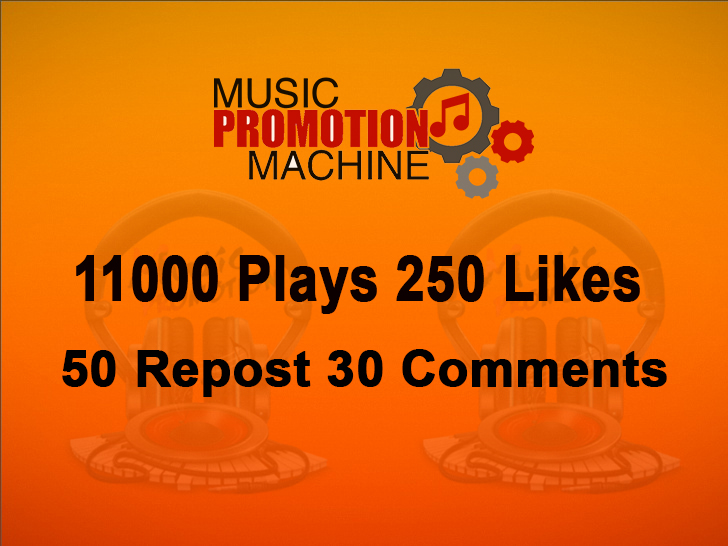 Music Promotion 11000 Plaays 250 Lykes 50 Repost 30 Comments
